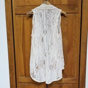 Xhilaration Jackets & Coats - Xhilaration Lace Asymetrical Vest Top